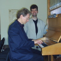 Gordon Turk Playing in Kiev Conservatory, practice organ