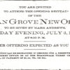 Ocean Grove, Ticket (July 3, 1908)